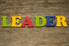 Word leader Stock Photos