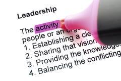 The word Leadership Royalty Free Stock Photo