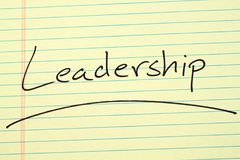Leadership On A Yellow Legal Pad Stock Images