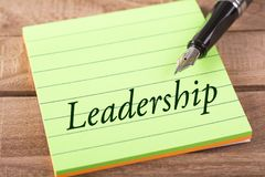 The word leadership royalty free stock photography
