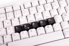 Word Learn written with black keys on computer Stock Photography