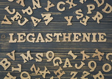 Word legasthenie Royalty-vrije Stock Afbeelding