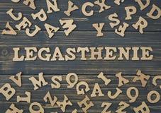 Word legasthenie Royalty Free Stock Image