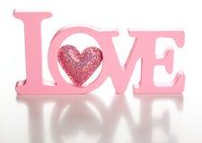 Word liefde stock fotografie