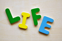 The word life Stock Image