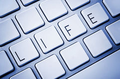 Word Life on computer keyboard Stock Photos