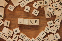The word live Stock Images