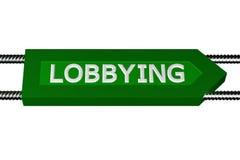 Word lobbyen geschreven op de pijl Royalty-vrije Stock Foto's