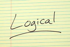 Logical On A Yellow Legal Pad Royalty Free Stock Images