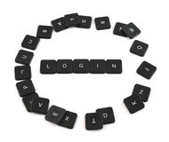 Word login made of keyboard buttons isolated Royalty Free Stock Photography