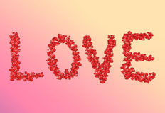 The word is love. Royalty Free Stock Photo