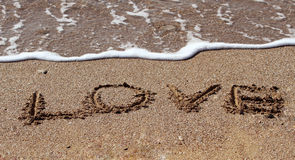 The word love Stock Image