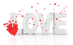 Word love - 3D Stock Photos