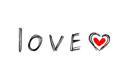 Word ``Love`` with abstract heart Royalty Free Stock Photography