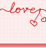 Word love from bands with stitching and heart royalty free illustration