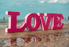 The word LOVE Royalty Free Stock Photography