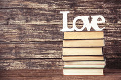 Word love and books Stock Photos