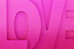 The word love. A closeup of the shape of the word love Royalty Free Stock Images