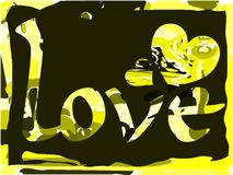 Word love on colorful background stock illustration