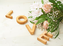 Word Love composition Royalty Free Stock Images