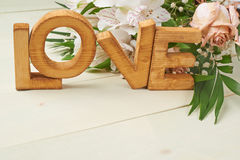 Word Love composition Royalty Free Stock Photos