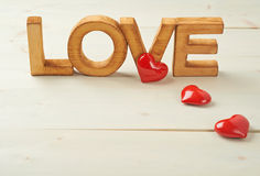 Word Love composition Royalty Free Stock Photography