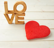 Word Love composition Stock Photos