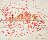 Word Love composition Royalty Free Stock Image