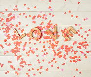 Word Love composition Royalty Free Stock Photo