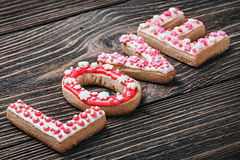 Word love of cookies for the holiday Stock Photo
