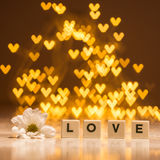 Word love with flower Royalty Free Stock Image