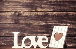 Word Love and frame for photo Stock Photo