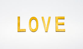 Word love isolated on white background letter Royalty Free Stock Photo