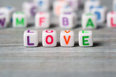 Word love macro Royalty Free Stock Photography
