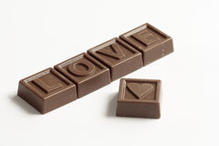 Word Love made of chocolates Stock Image