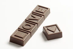 Word Love made of chocolates Royalty Free Stock Image