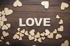 Word love made up with wooden letters Royalty Free Stock Photos