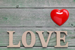 Word love made with wooden block Royalty Free Stock Photos