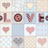 The word Love in patchwork style Stock Photos