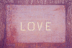 Word love  rusty Royalty Free Stock Photography