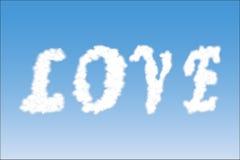 Word Love on the sky Stock Photo