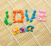 The word LOVE Royalty Free Stock Photos