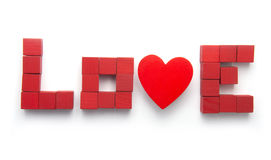 Love Spelled Out Stock Images