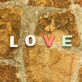 Word love on the stone floor Stock Photo