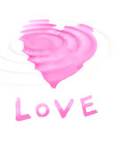 Word ''love'' with stylized love symbol royalty free illustration