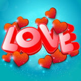 Word love to Valentines Day Background Royalty Free Stock Photo