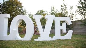 Word Love under the tree.  stock footage