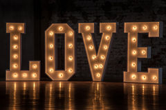 Word love. The word love, Valentine's Day royalty free stock images