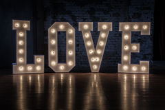 Word love. The word love, Valentine's Day royalty free stock photo