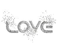 Word love, vector illustration, vector explosion explosion royalty free stock images